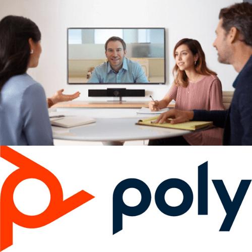 polycom y humanos en la oficina